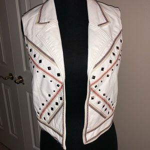 Studded festival vest
